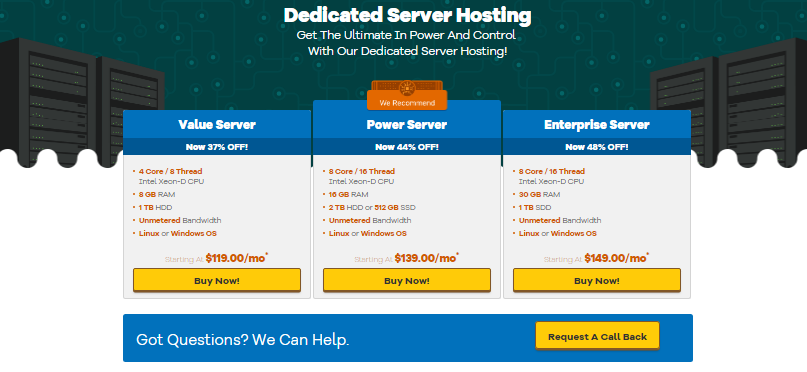 hostgator dedicated hosting
